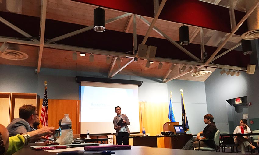 Lauren Trout, a restorative practices school specialist at the Jefferson Parish District Attorney's Office, discusses the program for the parish's Children and Youth Planning Board during its meeting on Jan. 26, 2016.