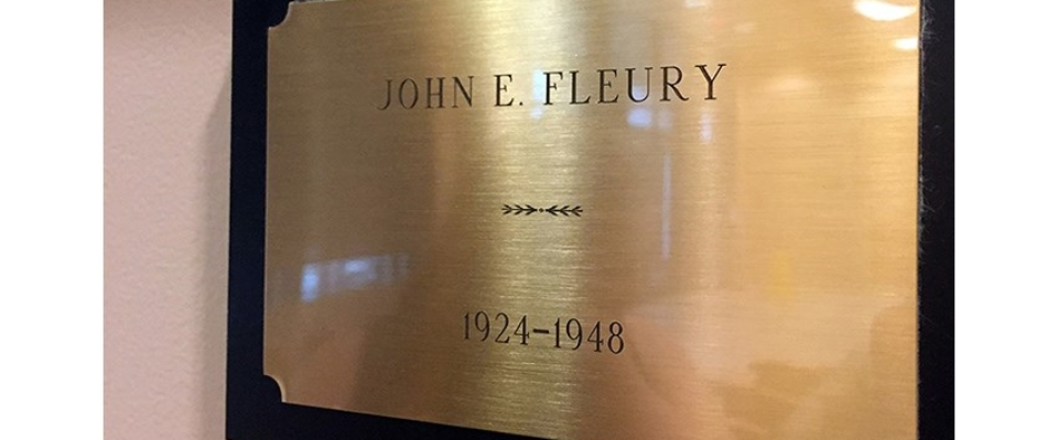 Fleury name plate