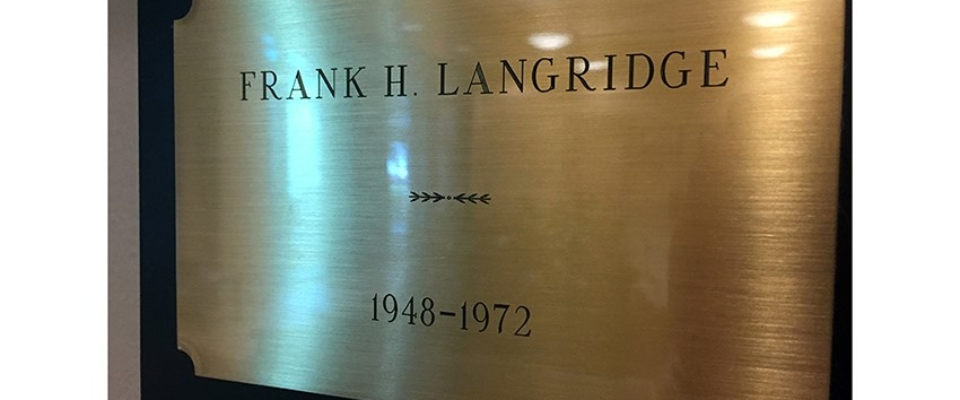 Langridge name plate
