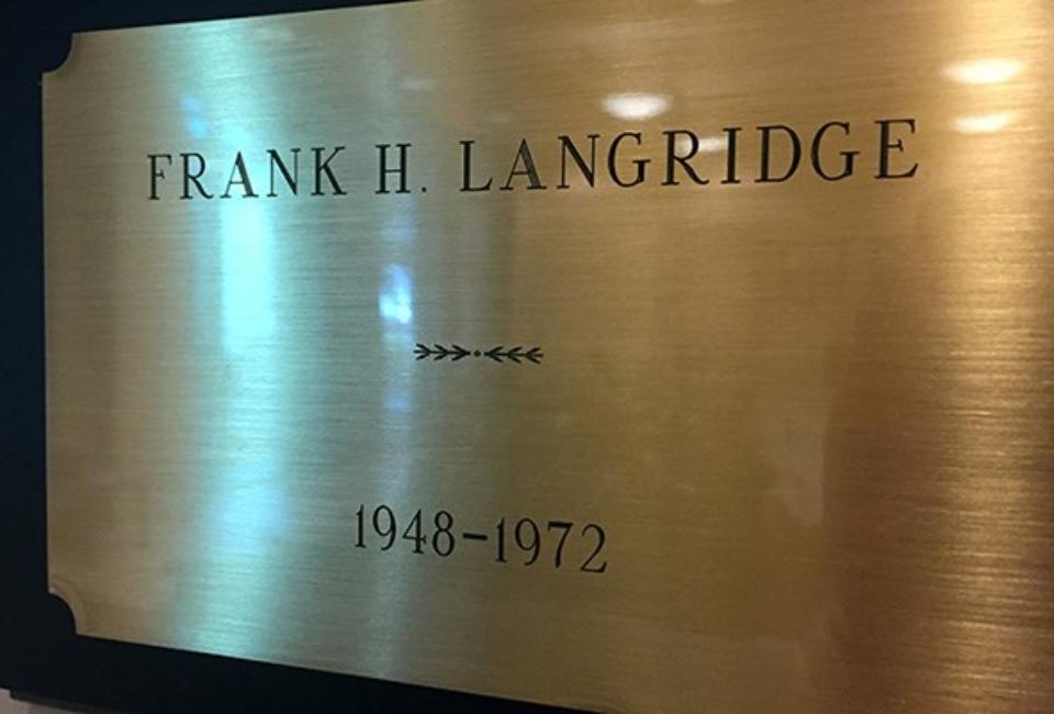 Langridge name plate