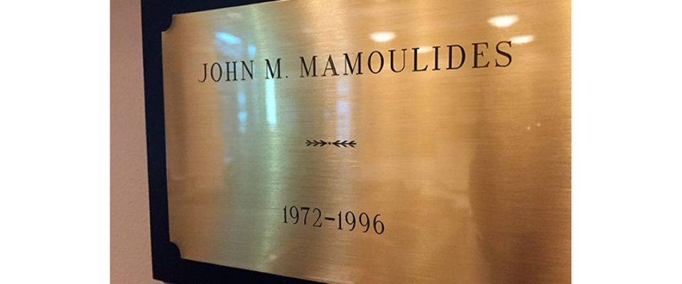 Mamoulides name plate